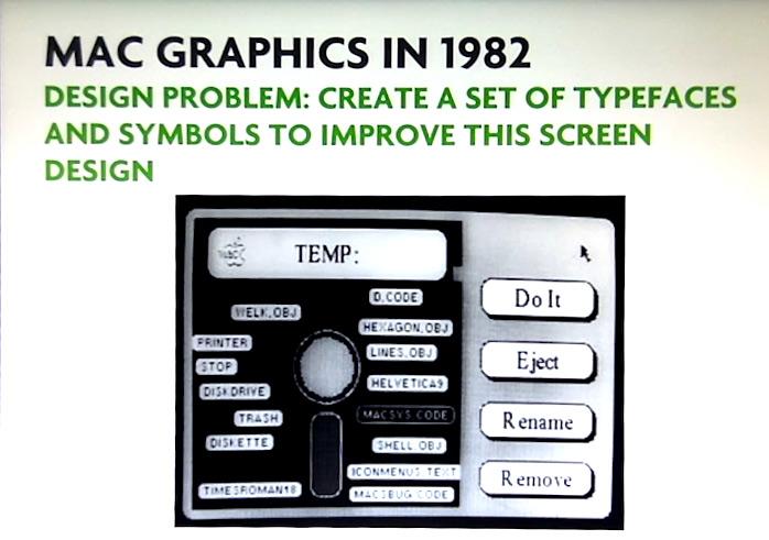 L'UI du prototype de Mac OS 1.