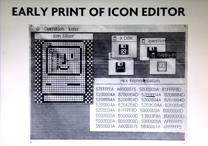 Avant l'éditeur elle concevait les icônes à la main sur des feuilles de papier.