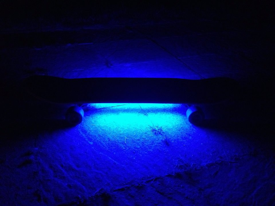 home made LED skate