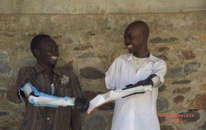 Mains imprimées en 3d en afrique
