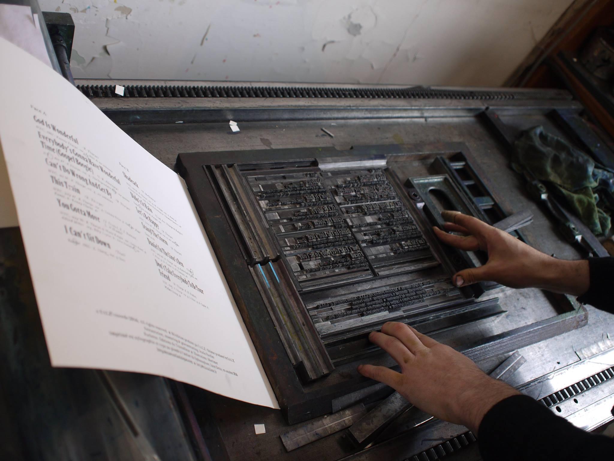 Impression typographique pour les textes
