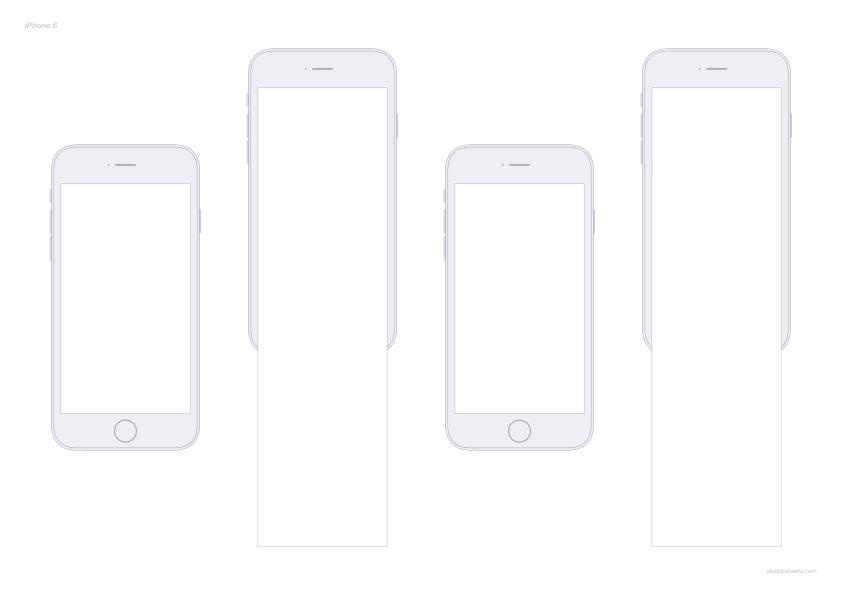 modèles de sketsheet pour wireframe iPhone