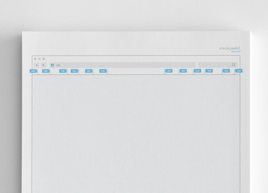 Sneakpeekit pour wireframe desktop